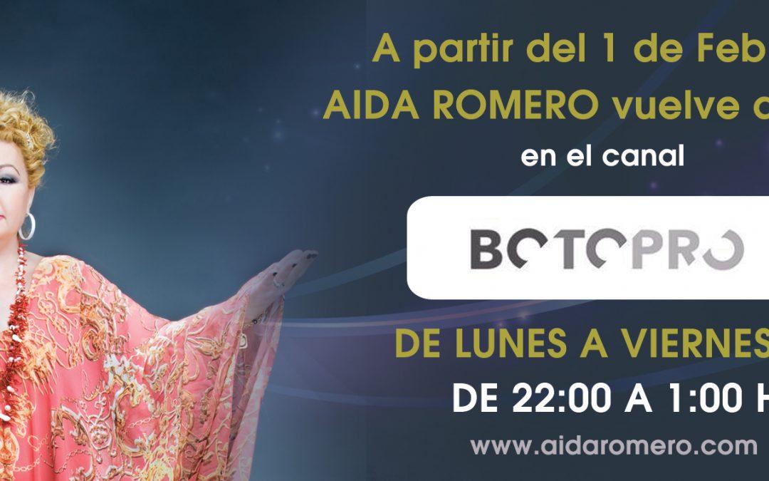 Aida Romero en Botopro TV de 22:00 a 1:00 todos los dias